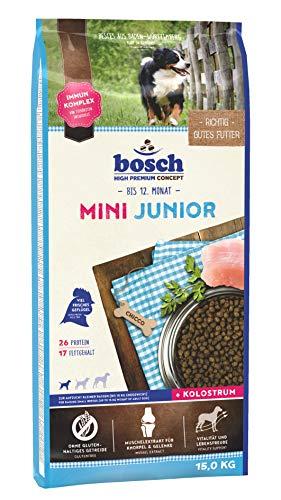 bosch HPC Mini Junior   Hundetrockenfutter zur Aufzucht kleiner Rassen (bis 15 kg)   1 x 15 kg