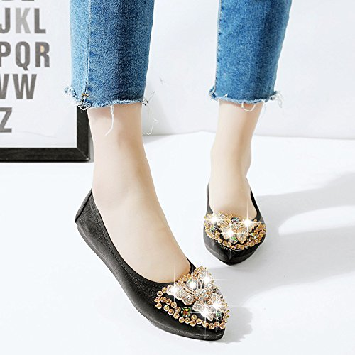 KHSKX-Low - Help Shoes Soft Bottom Pointed Single Shoes Working Shoes Thirty-nine ArOjWI