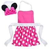 Disney Minnie Mouse Chef's Hat and Apron Set for Kids