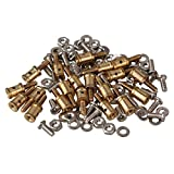 Mxfans 20pcs Metal 1 MM Pushrod Linkage Stopper for RC Airplane Helicopter with Screw and Nut