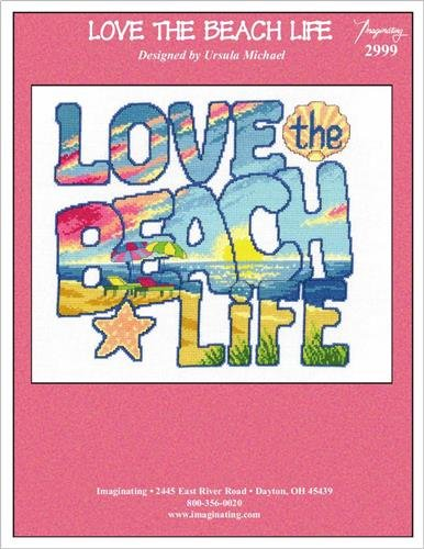 Love the Beach Life Cross Stitch Chart and Free Embellishment