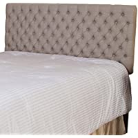 Denise Austin Home Wyoming Queen Button Tufted Fabric Headboard
