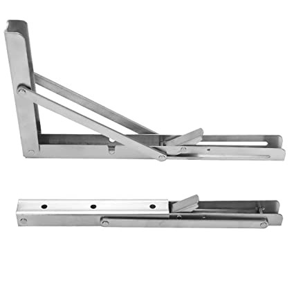 Home Furnishing Heavy Duty Stainless Steel Shelf Bracket 11 Folding Table Seat Brackets 250kg Load Marine Hardware