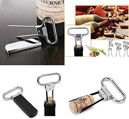 N\A Botella de Vino abridor Profesional de Acero Inoxidable multifunción sacacorchos Botella de Vino del abrelatas de Casquillo for la Casa (Color : Silver, Size : -)