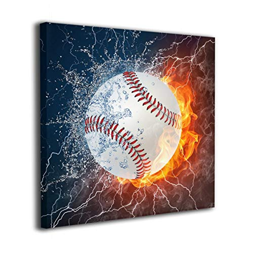 - customgogo Oil Paintings Wall Art On Canvas Poster Print Inner Framed Baseball Wallpaper Art Artic Painting Full Square Drill for Home Decor