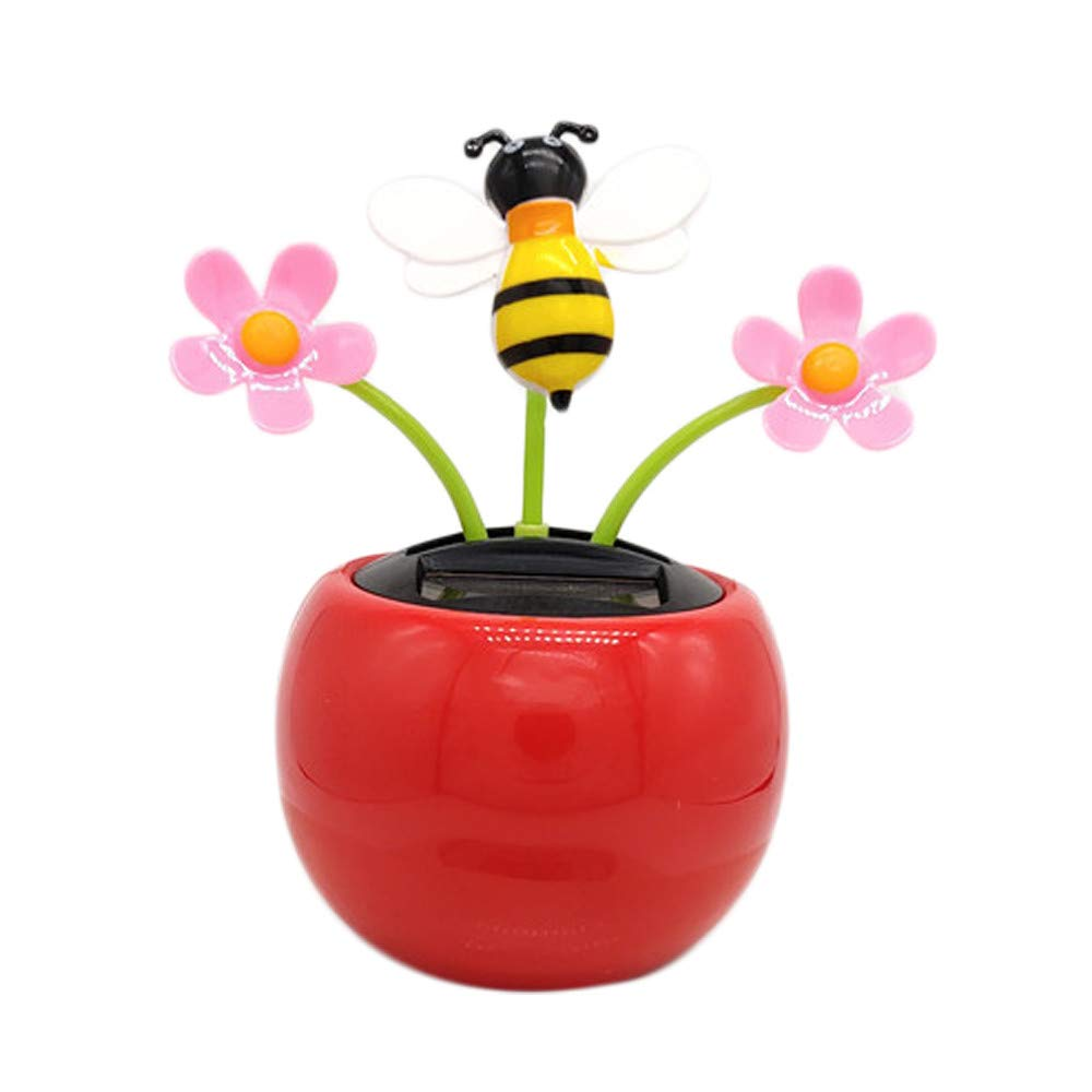 Cute creative toy automatic swing dancing solar flower home decoration car ornaments (A) 99native