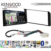 Volunteer Audio Kenwood DNX874S Double Din Radio Install Kit with GPS Navigation Apple CarPlay Android Auto Fits 1995-2002 Silverado, Sierra