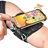 Running Armband, Comsoon 360° Rotatable Sports Armband for iPhone Xs Max/XR/X/8 Plus/8/7, Galaxy S10/Note 9/S9 Plus/S9 & Other 4'-6.5' Smartphone, Phone Armband with Key Holder for Hiking Jogging