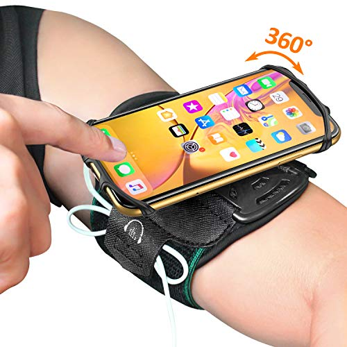 Running Armband, Comsoon 360° Rotatable Sports Armband for iPhone Xs Max/XR/X/8 Plus/8/7, Galaxy S10/Note 9/S9 Plus/S9 & Other 4