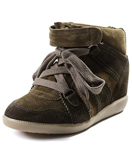 isabel-marant-womens-lace-up-velcro-detailed-high-top-sneakers-38-olive