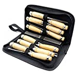 13PC/set Hand Forged Sculpturing laminated steel Tools Chisel carving tool W194