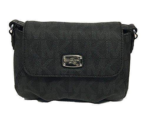 Michael Kors Signature PVC Small Flap Crossbody Bag (Cross Body Flap Handbag)