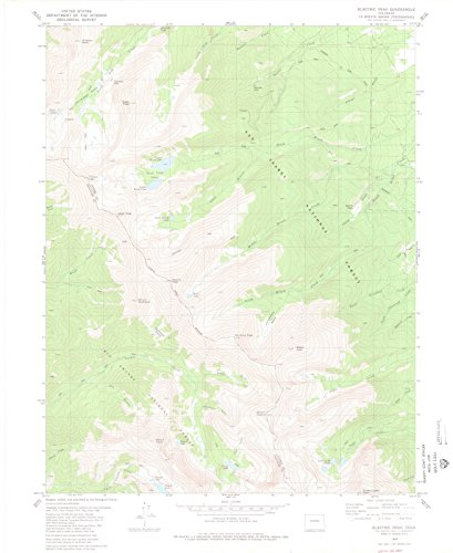 Colorado Maps | 1980 Electric Peak, CO USGS Historical Topographic Map | Cartography Wall Art | 24in x 30in ()