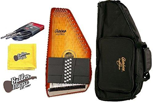 Oscar Schmidt OS11021FHSE Flame HB A/E 21 Chord Autoharp w/Gig Bag and More by Oscar Schmidt