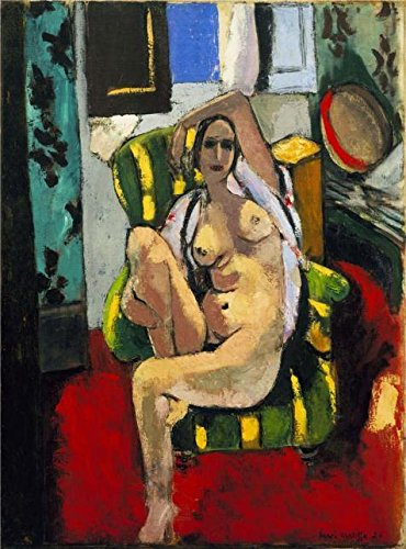 Oil Painting 'Odalisque With A Tambourine 1926 By Henri Matisse' 16 x 22 inch / 41 x 55 cm , on High Definition HD canvas prints is for Gifts And Bed Room, Home Theater And Kitchen decor, for print