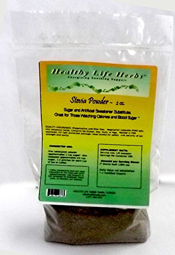 Stevia Powder 1 oz > 1 lb - Certified USDA Organic (2 oz) -