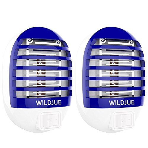 [2-Pack] WILDJUE Bug Zapper Electronic Insect Killer Mosquito Killer Lamp,Eliminates Most Flying Pests! Night Lamp...