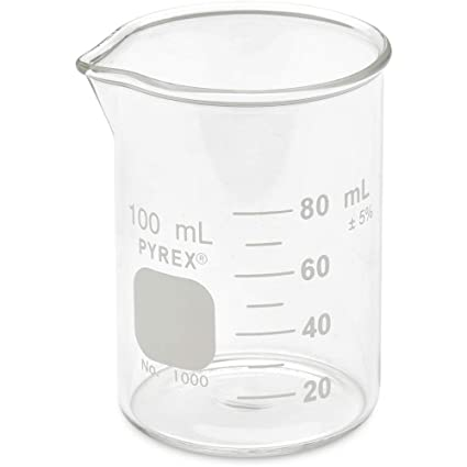 Corning Beaker Pyrex Griffin Low Form Graduated 100ml Shelf