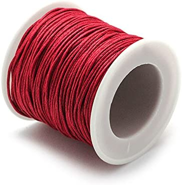RUBY- Hilo Encerado 1mm 45m (Rojo): Amazon.es: Hogar