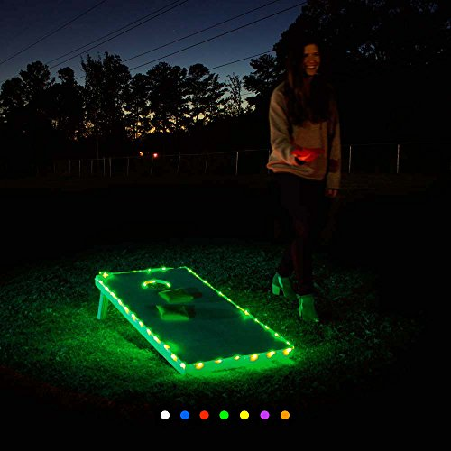 Cornhole Lights - Edge Lights (Green) (Hoop Light Bar)