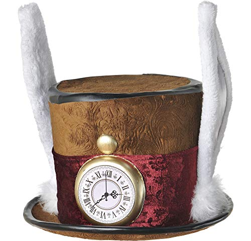 AMSCAN Mad Hatter Hat Deluxe Halloween Costume Accessories, One Size -