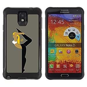 All-Round híbrido Heavy Duty de goma duro caso cubierta protectora Accesorio Generación-II BY RAYDREAMMM - Samsung Galaxy Note 3 - Ballet Training Sport Yoga Gymnastics Woman