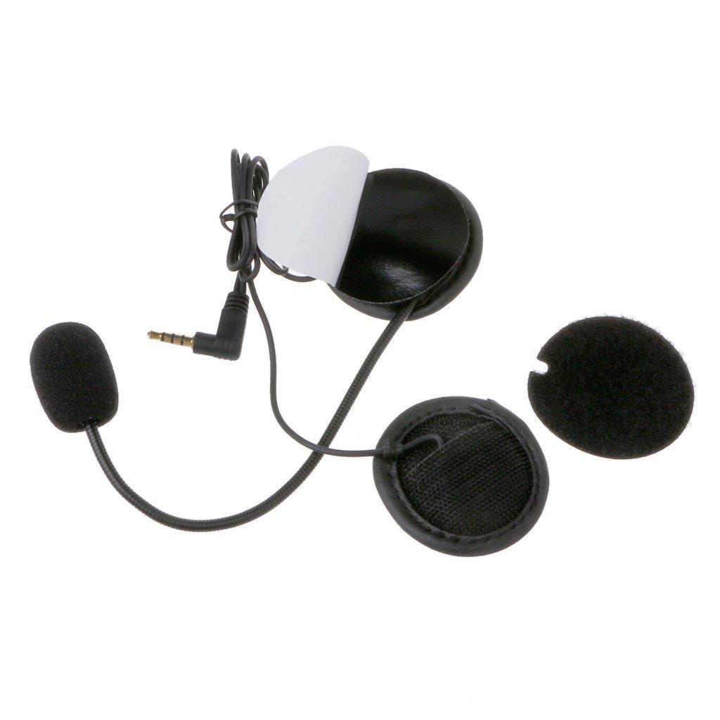 Lagand Micro Haut-Parleur Souple pour Moto Interphone avec Prise 3,5 mm