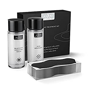 Anjou Blackhead Remover Kit, 32 Counts Nose Pore Strips, Peel Off Black Mask Nose Strips for Deep Pore Cleansing, Treatment for Blemish, Whitehead Popping, Oil Control, Minimize Pore and Moisture Skin