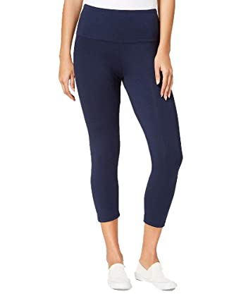 538e60f93d Style&Co Cropped Tummy-Control Leggings (Industrial Blue, XS) at ...