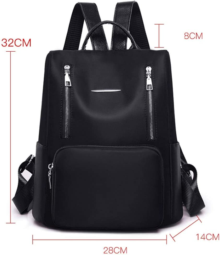 GFDFD Ladies Fashion Casual Backpack Purse Soft Leather Handbag Casual Women Backpack Teen School Bag (Color : Red) Red