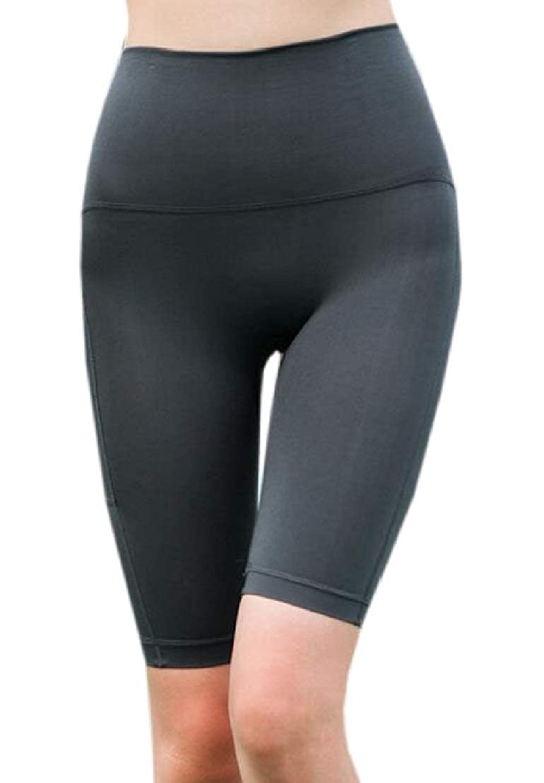 GRMO Women High Waisted Running Trainning Yoga Skinny Quick Dry Shorts with Pockets
