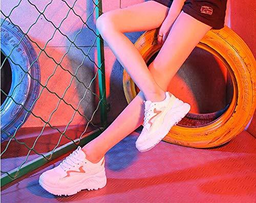 Femmes Épaisses C Les Petites couleur Pour Et Taille Blanches 38 Baskets 2018 Décontractées Chaussures Automne Une Semelles À Nouvelles gEHBBq