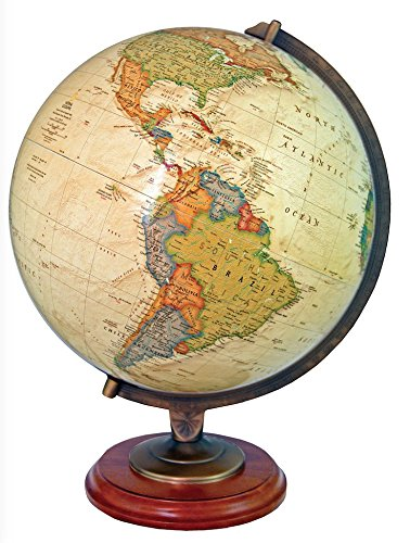 Replogle Adams Illuminated Desktop World Globe by National Geographic