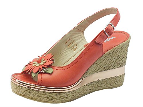 Sandals Women's Coral Corallo MELLUSO 019066 Fashion nTwqYxpz