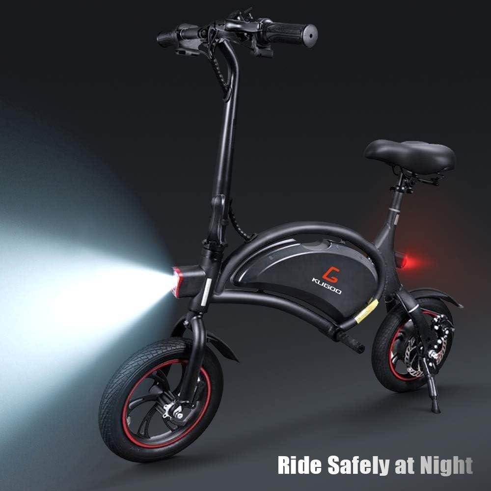 urbetter Bicicleta Eléctrica, 250W Patinete Eléctrico Plegable Urbana con Luz LED, Asiento Ajustable, Velocidad Máx 25 km/h, Bici Electrica Adultos Unisex (B1): Amazon.es: Deportes y aire libre