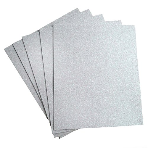 Glamorous 9.5 Inch X 12 Inch Metallic Foam Sheet - White ()