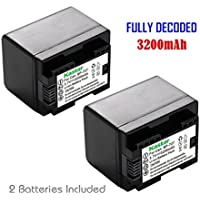 Kastar (FULLY DECODED) Battery (2-Pack) for Canon BP-727 and VIXIA HF M50, HF M52, HF M500, HF R30, HF R32, HF R40, HF R42, HF R50, HF R52, HF R60, HF R62, HF R300, HF R400, HF R500, HF R600 Cameras