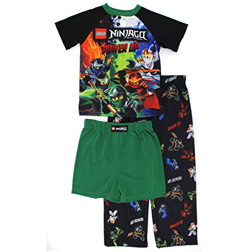 LEGO Ninjago Boys 4 Piece Cotton Pajamas Set (Little Kid/Big Kid)