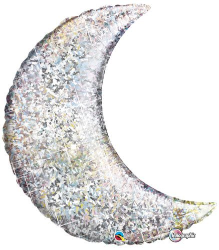 single-source-party-suppies-35-holographic-crescent-moon-mylar-foil-balloon