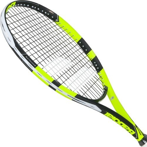 Babolat 2018 Pure Aero Lite Tennis Racquet - Quality String (4 Even) (Best Babolat Racquet For Intermediate Player)