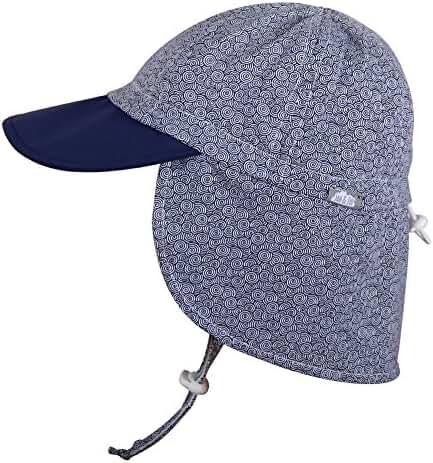 Baby Toddler Kids 50+ UPF Size Adjustable Bucket Sun Hat with Chin Strap or Shirt & shorts Set, Aqua Dry