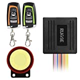 Rupse Waterproof Motorcycle Bike Anti-theft Security Burglar Alarm System Horn Alarm Warner Bi-color Remote Control