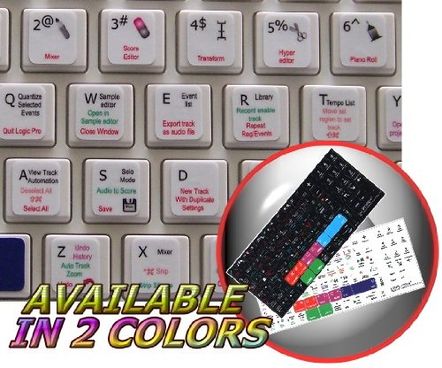 NEW APPLE LOGIC 9 KEYBOARD STICKERS ON WHITE BACKGROUND FOR DESKTOP, LAPTOP AND NOTEBOOK