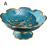 LXYFMS American Large Fruit Plate Retro European Fruit Plate Classic Living Room Coffee Table Soft Home Crafts (Color : A)