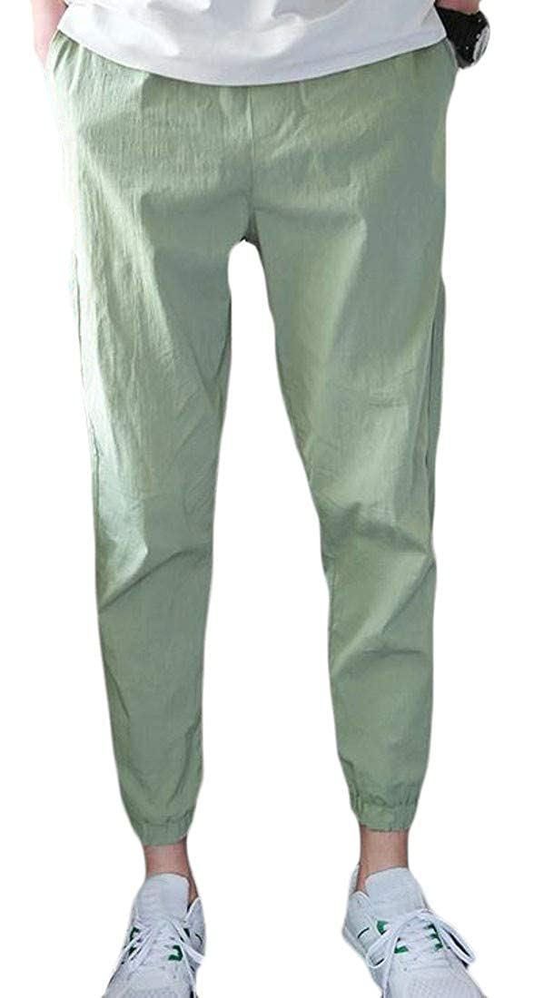 XiaoTianXin-men clothes XTX Mens Stretch Casual Sport Breathable Harem Ankle Straight Pants