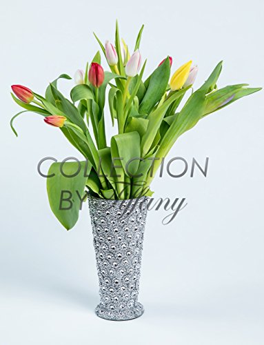 Tulip Fresh Festive Color 10st/bunch Beautiful Wedding Event Everyday Occcasion Gift In Keepsake Container Vase Trumpet Bling Bling (Trumpet (Holland Floral Vase)