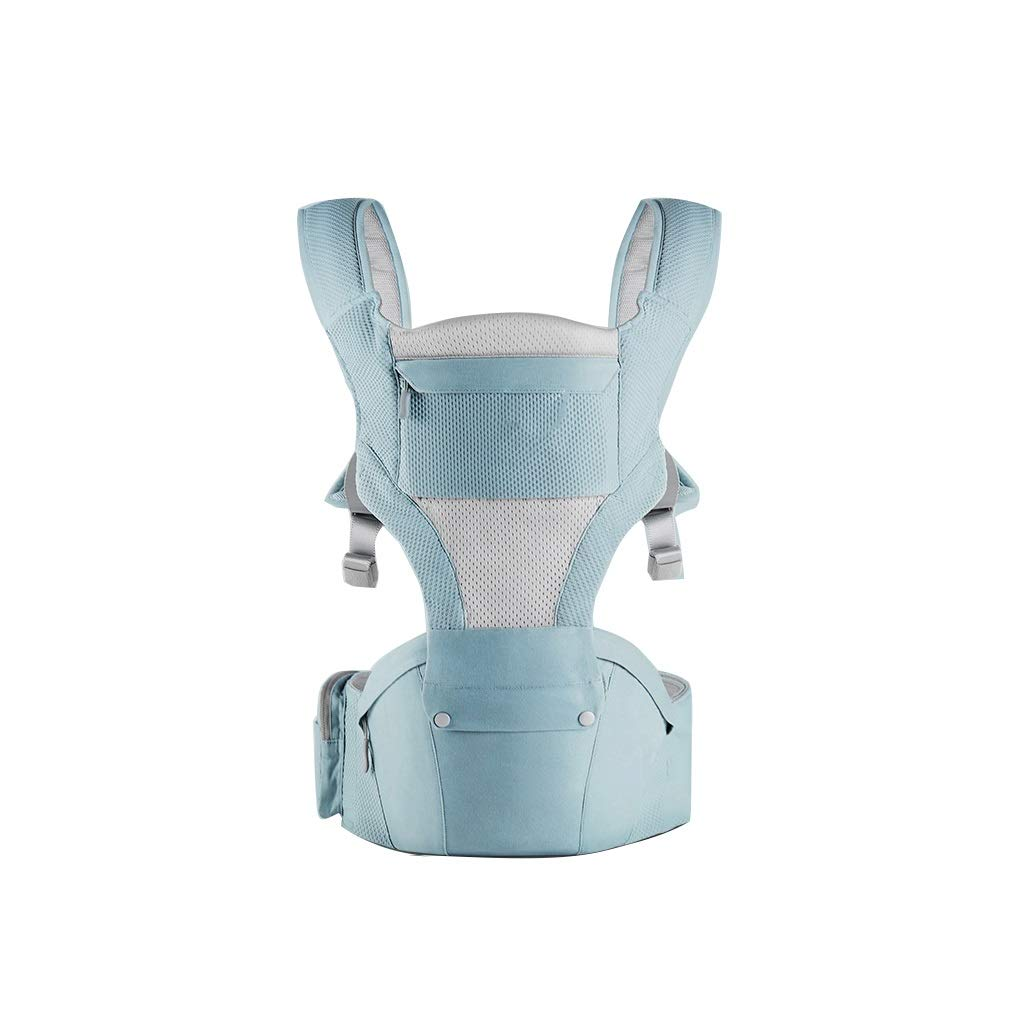 ZUOANCHEN Baby Strap Waist Stool Multi-Function Four Seasons Universal Baby Front Hug Seat Bench Single Stool Back Child Lightweight Belt (Color : Blue)