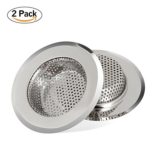 AWSWIN Kitchen Sink Strainer Stainless Steel Drain Filter Strainer with Large Wide Rim 4.4