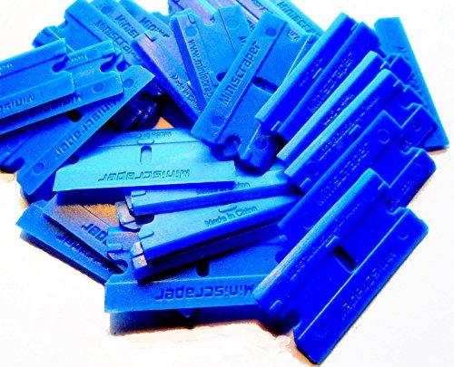 100 Pack Plastic Razor Blades Double Edged - Scraper Edged