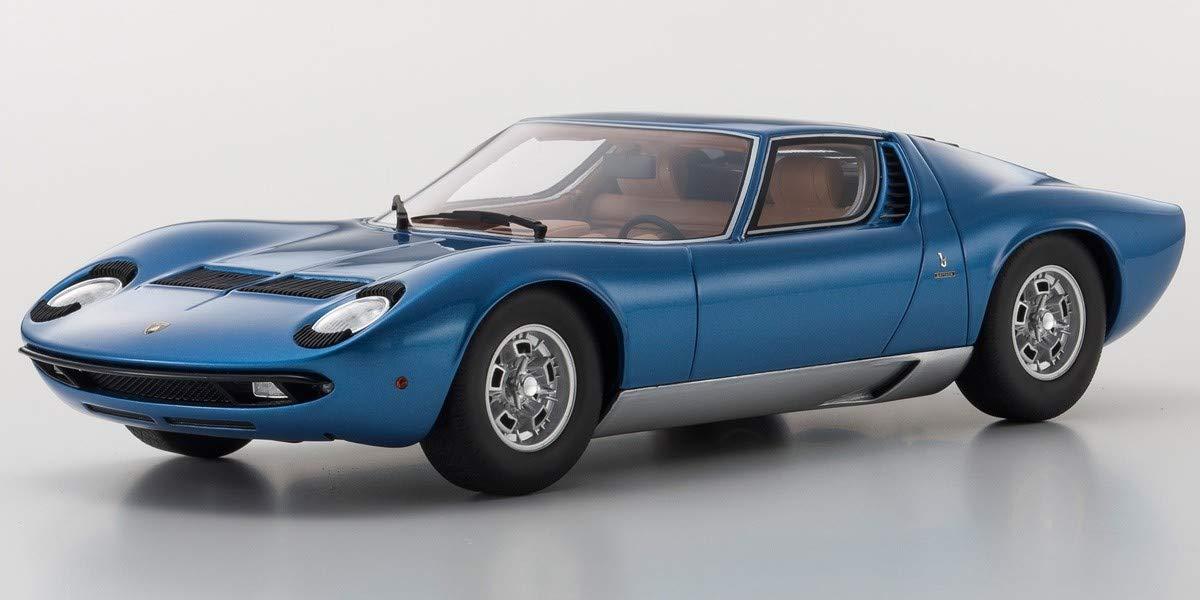 Amazon Com Lamborghini Miura P400 S Coupe Blue 1 18 Model Car By